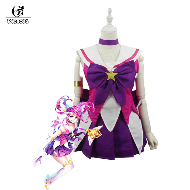 ROLECOS LOL Game Cosplay Costume The Lady Of Luminosity Lux Magical Girl Cosplay Costume Women Dresses Lux Cosplay Costume