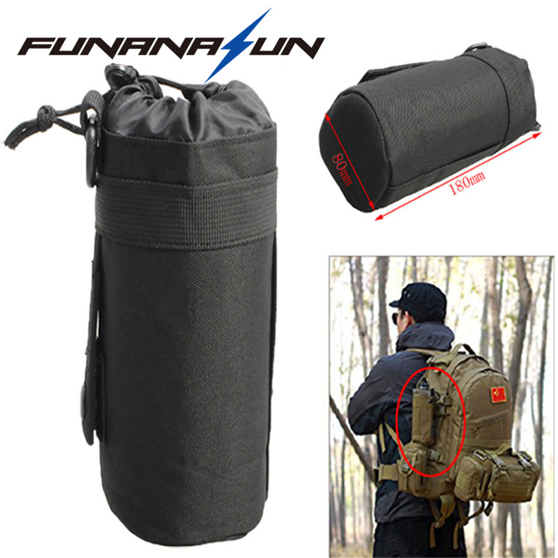 Tactical Water Bottle Pouch Military Molle System Kettle Bag Camping Hiking Travel Survival Kits Holder