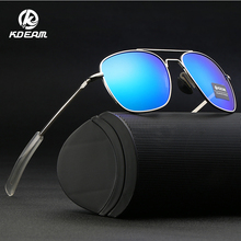 KDEAM 2019 Men Metal Vintage Polarized Sunglasses Brand Sun glasses Square Coating Lens Driving Shades For Men/Women