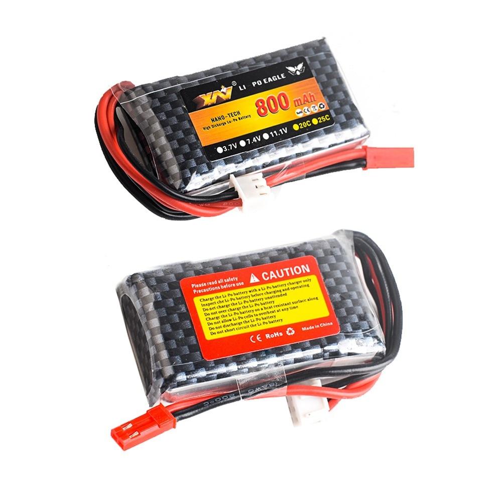 1pcs YW Li-Polymer 2S 7.4v 800mah Lipo Battery For MC6A MC6B ZF-6A MC-E7 Rc Transmitter