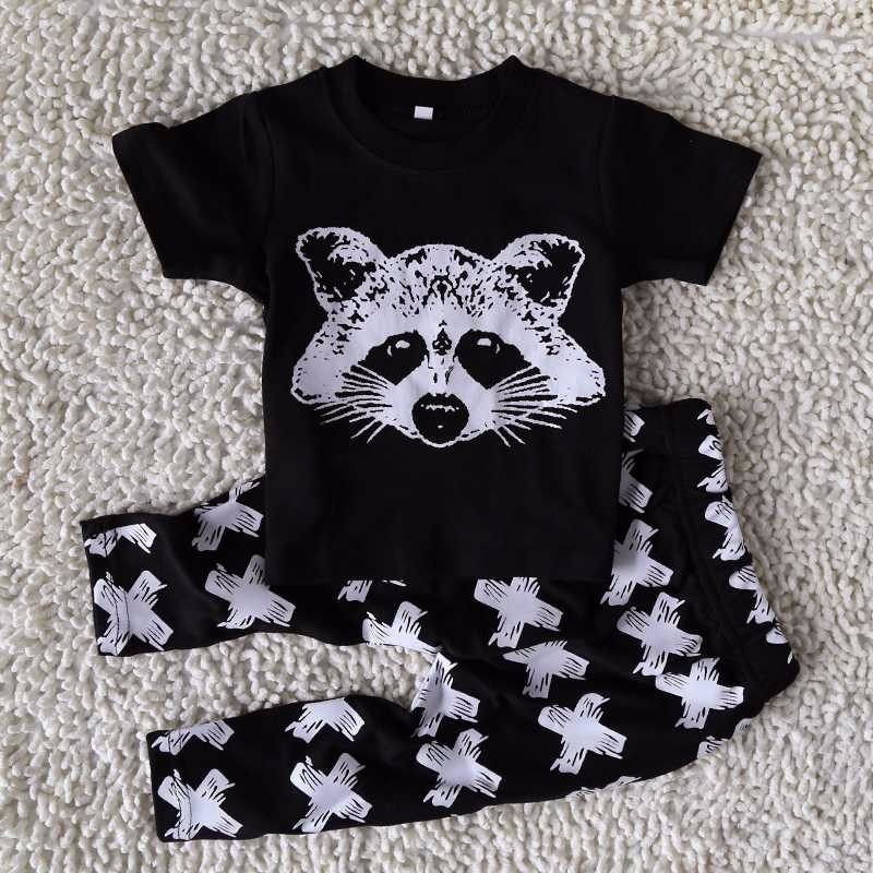 2017 Autumn Baby Boy Clothes Short sleeve Top + pants 2pcs Sport Suit Baby Clothing Set Newborn Infant Clothing Bebe Outfits Set