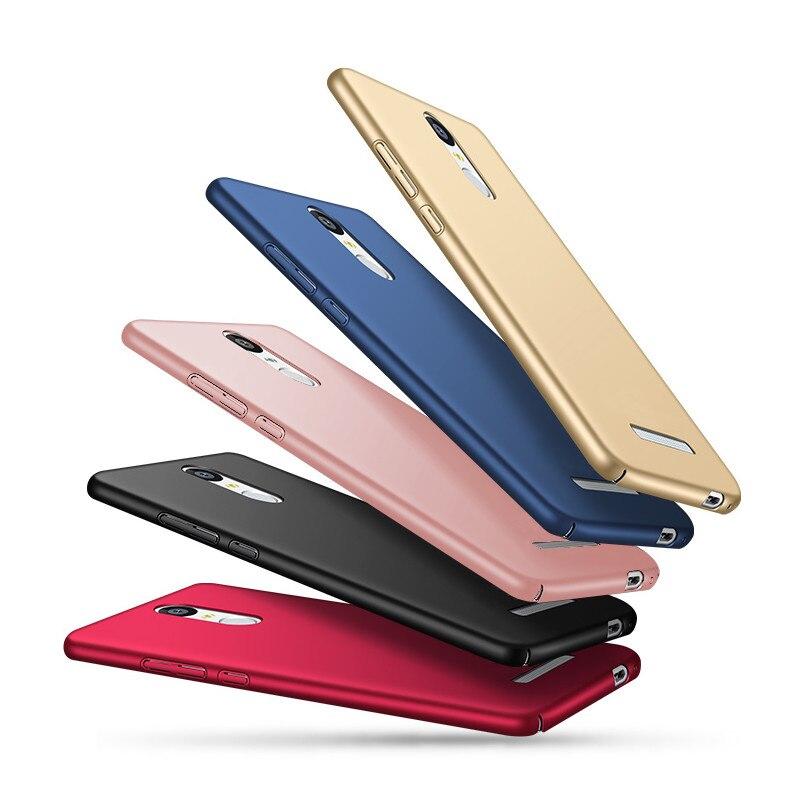 Para xiaomi redmi note 3 pro case 360 protección completa duro pc phone case par