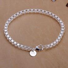 2016 Hot Silver Color Jewelry bracelet, silver plated wristlet vintage-accessories Box Bracelet /YVHLMOUC UBBITNQDI