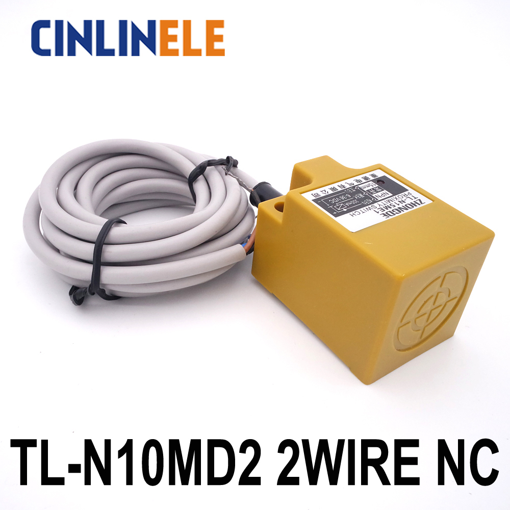 hight resolution of tl n10md2 10mm sensing dc 2 wire nc cube shell inductive screen shield metal proximity switch tl n10m proximity sensor 18 18 36 in switches from lights