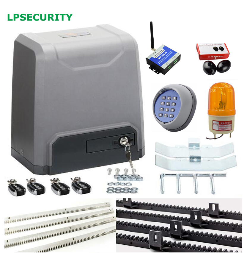 Lpsecurity 1500kg electric automatic sliding gate opener for Sliding gate opener motor
