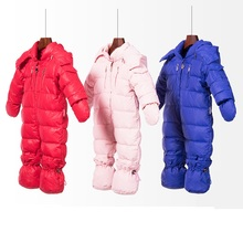 Baby Boy Girl Winter Outerwear Outfits Hooded Thermal Newborn Baby Snowsuit Snow Wear Romper
