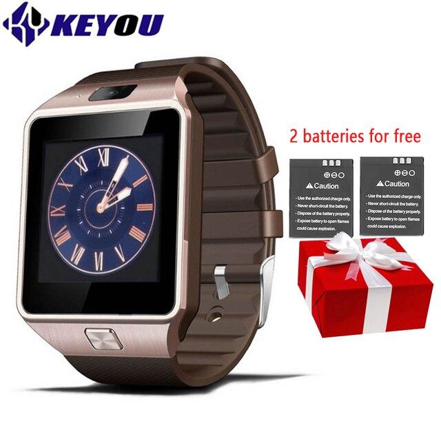 Keyou dz09 умные часы IOS compatib handgelenk MIT Мужчины Bluetooth SIM-Karte спортивные SmartWatch трекер Android для iphone Watch