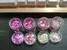 5pcs 10ml pink red mixed shiny glitter Powder for craft Mold,Nail Glitter Powder Sequins Powder For nail art decoration