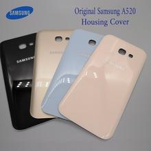 Orijinal Samsung Galaxy A5 2017 A520 A520F Arka Pil Kutusu 3D Cam Konut Kapak Için Samsung A5 2017 Arka Kapı yedek