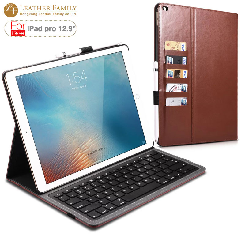 san francisco 466bf 2c2ea US $74.99 |Case for iPad Pro 12.9 inch Protective Cover for ipad pro  leather case with keyboard Stand Case Pencil Holder for iPad Pro 12.9