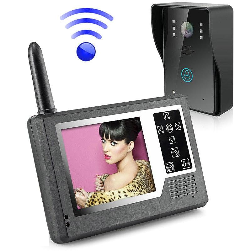 """MOUNTAINONE 3.5"""" TFT Color Display Wireless Video Intercom Doorbell Door Phone Intercom System"""