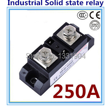 цена на DC to AC SSR-H250ZF 250A SSR relay input DC 3-32V output AC660V industrial solid state relay