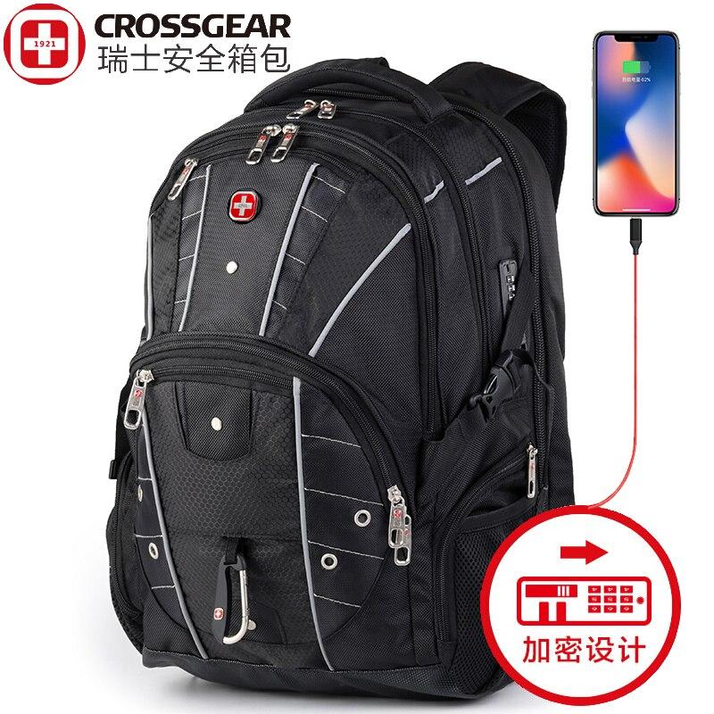 swiss 17 inch usb business mutifuctional fashion large capacity waterproof 15 6 and 17 inch Laptop