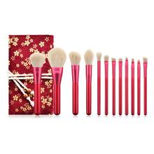 12pcs Pro Makeup Brushes Foundation Powder Eyebrow Eyeshadow Brush Set Kit With Pouch Bag(China)