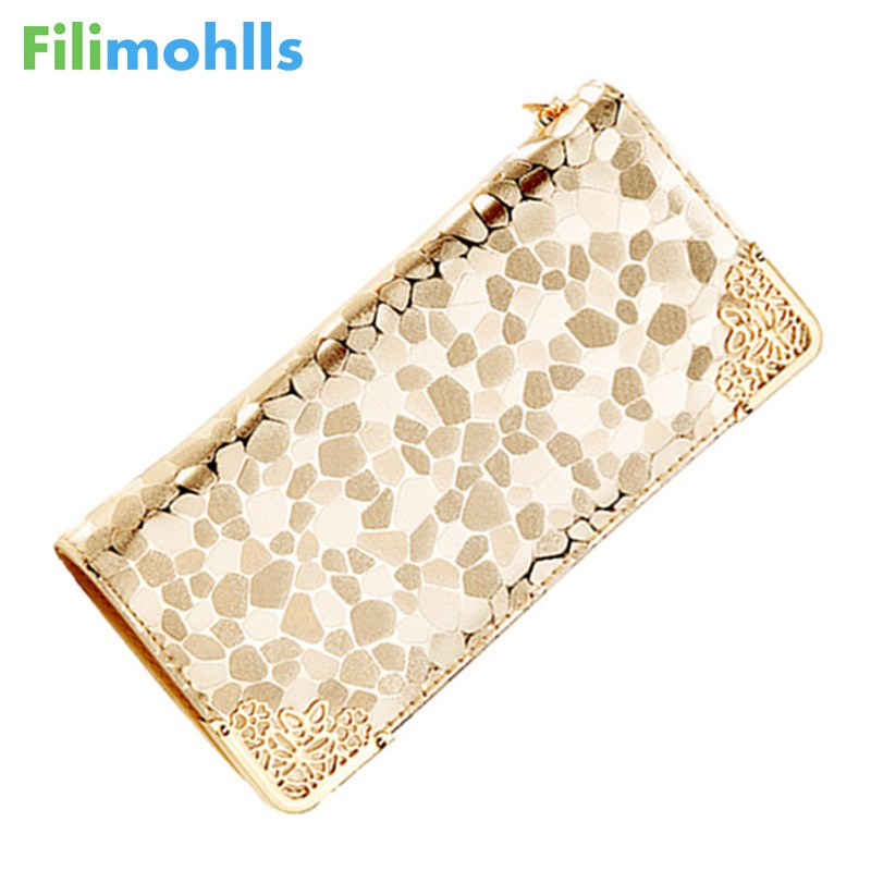 2018 Long Wallets Ladies PU Leather Zipper Purse Card Holders