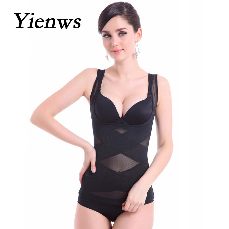 Yienws Body Shaper Sexy Waist Trainer Corset For Women Shapewear Push Up Vest Girdle Slimming Cami Tank Top Shapers SSY006