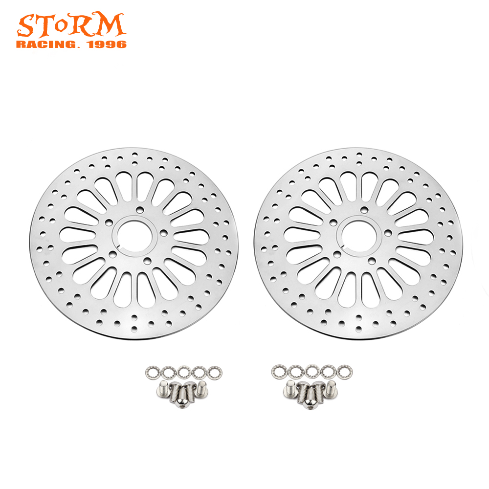 Motorcycle 2 Pcs Front Brake Disc Rotor Set For HARLEY Touring Softail Sportster Dyna 1984 2013