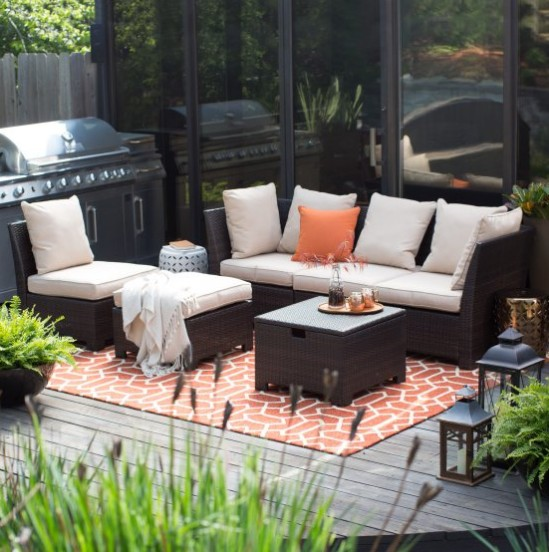 Hot sale comfortable garden furniture dark sofas classical ...