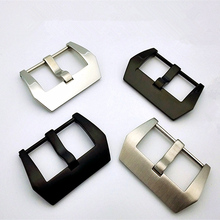 30pcs/lot watch buckle Stainless steel silver and black color smooth dull polish style 22MM 24MM 26MM