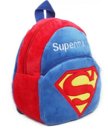 0-4 Years Old Superman Plush Backpacks Kidgarden Schoolbag Cartoon Soft Staffed Storage Doll Baby Bags BG-11