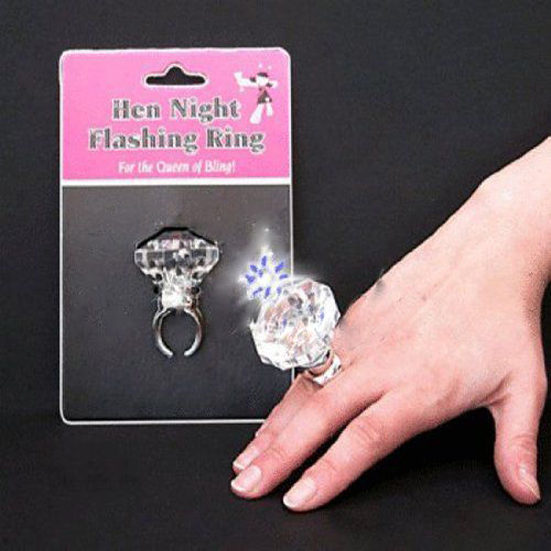HEN Party Night Accessories Flashing Ring Novelty Bride To Be Gift Hot