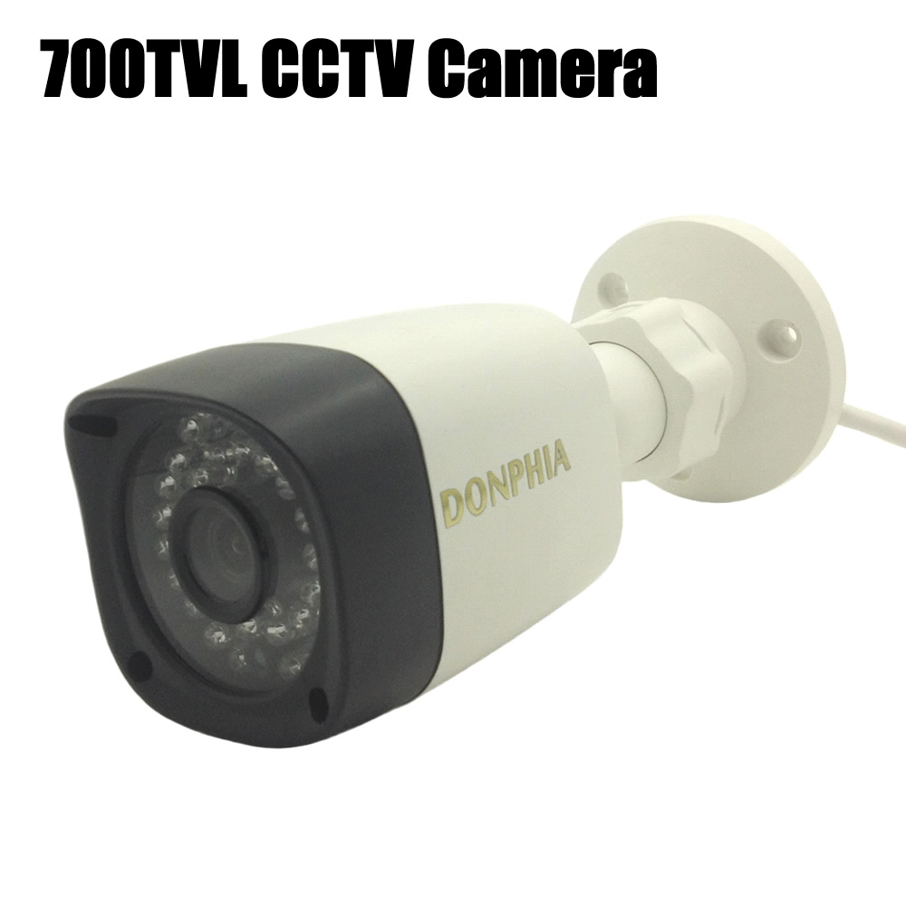 DONPHIA CCTV Camera 700TVL Outdoor Color CMOS Sensor Waterproof IR Bullet Video Surveillance Home Security Night Vision ah4rp 130 direct factory cmos cctv camera outdoor mini video surveillance analog infrared ir night vision waterproof bullet se