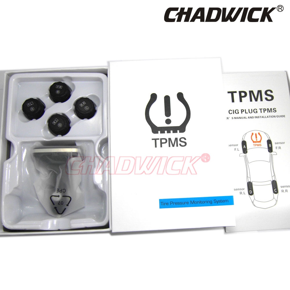 Image 4 - TPMS Wireless Digital Tire Pressure Monitoring System 12V External Sensor Car Alarm accessory safety CHADWICK TP620 cigarette-in Tire Pressure Alarm from Automobiles & Motorcycles