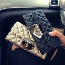 Long Solid Luxury Brand Women Wallets Fashion Hasp Leather W