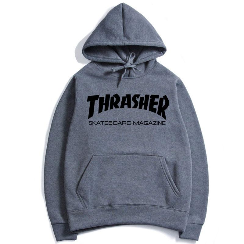 Women Men Hoodie Hip-hop Sweater Skateboard Thrasher Sweatshirts Pullovers Tops