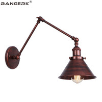Vintage Industrial Swing Sconce Wall Lights Loft Style Long Arm LED Wall Lamp Decor Edison Home Adjust Fixtures Home Lighting|LED Indoor Wall Lamps|   -