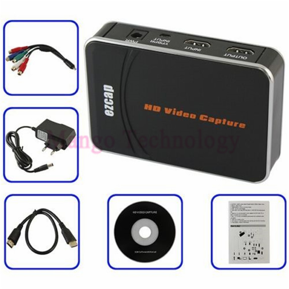 ФОТО HD Video Capture EZCAP 1080P Game Capture HDMI YPbPr Recorder Box into USB Disk with Edit Software for XBOX One/360 PS3 Newest
