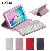 2 in 1 Removable Wireless Bluetooth Keyboard Case For Samsung Galaxy Tab2 T560 T561 9.6 inch Tablet PC Cover mechanical keyboard