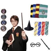 Харрис Поттер халат плащ с галстуком шарф палочка очки Ravenclaw Гриффиндор Hufflepuff костюм Слизерин HarriHarri Potter Co