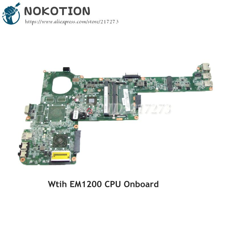 NOKOTION A000221170 DABY7DMB8C0 Laptop Motherboard For Toshiba Satellite C805 C805D MAIN BOARD EM1200 CPU DDR3 nokotion genuine h000064160 main board for toshiba satellite nb15 nb15t laptop motherboard n2810 cpu ddr3