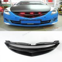 Настоящее карбоновая решетка сетки переднего бампера Решетка для Mazda 6 2009 2012