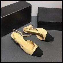 Брендовые женские босоножки из твида с петлей на пятке; модные офисные женские дизайнерские туфли-лодочки на высоком каблуке; сезон весна-лето; дизайнерская роскошная женская обувь