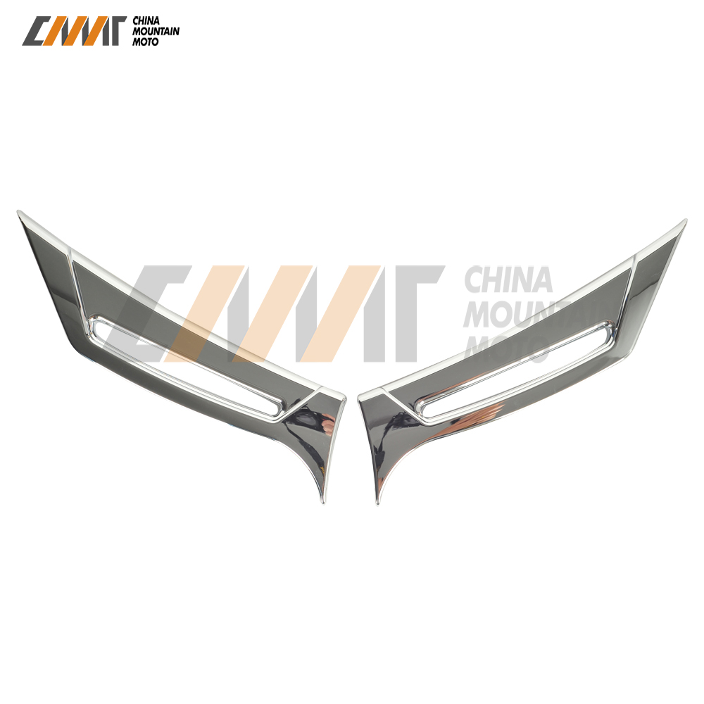 Chrome Motorcycle Accessories Front Fairing Intake Vent Scoops Case for Honda Goldwing GL1800 GL 1800 2012-2017 unpainted white injection molding bodywork fairing for honda vfr 1200 2012 [ck1051]