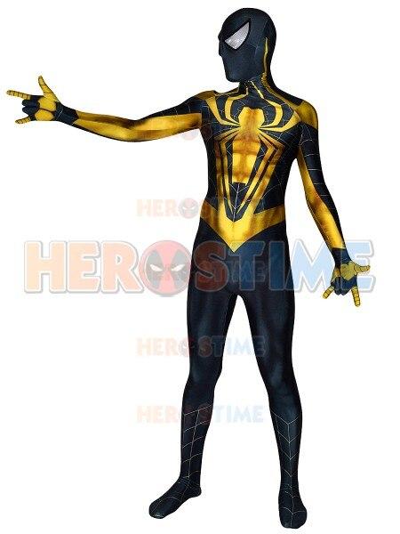 High Quality 3D Print Spiderman Costume Chrome Spider man Dye Sub Printing Zentai Spidey Cosplay Lycra