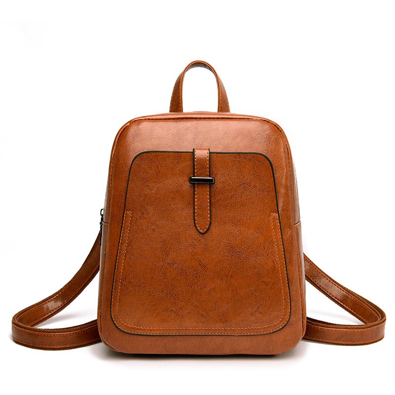 2019 Women Oil Leather Backpacks Students School Shoulder Bag for Teenage Girls Backpack Ladies Travel Daypack2019 Women Oil Leather Backpacks Students School Shoulder Bag for Teenage Girls Backpack Ladies Travel Daypack