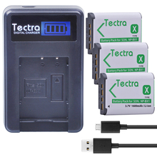 Tectra 3Pcs NP-BX1 NP BX1 NPBX1 Li-ion Camera Bateria + LCD USB Charger for Sony DSC-RX100 RX1 HDR-AS15 AS10 HX300 WX300