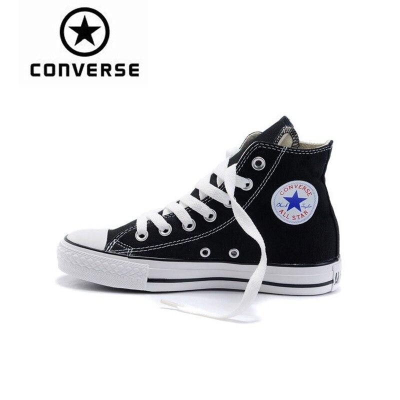 Converse обувь для скейтбординга оригинальный Новое поступление классический унисекс холст с высоким берцем анти скользкие Sneaksers удобные 102307