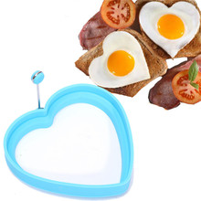 Silicone Fried Egg Mold Pancake Ring Omelette Fried Egg Heart Shaper Eggs Mould For Cooking Breakfast Frying Pan Oven Kitchen