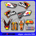 FREE SHIPPING MOTORCYCLE SCRATCH RESISTANT 3M TEAM GRAPHICS BACKGROUND DECALS STICKERS KITS FOR KTM EXC SERIES MODEL 05 06 07