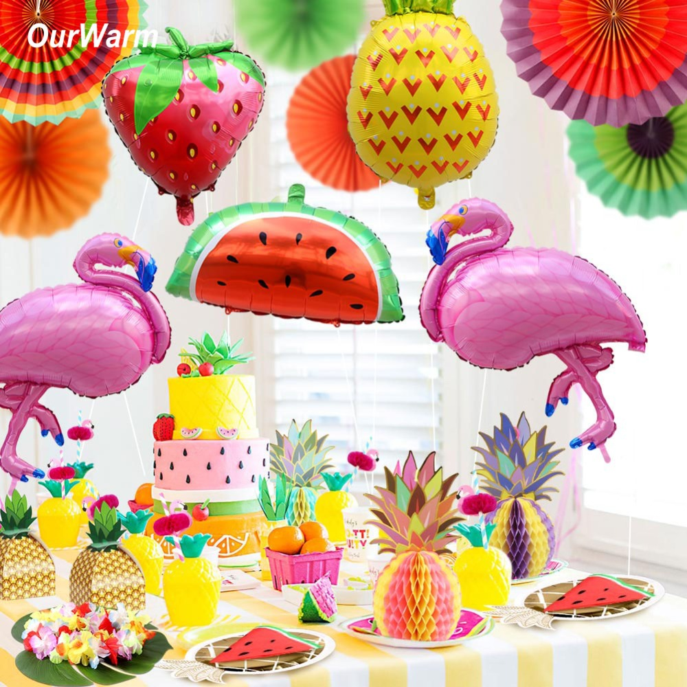 Hawaiian Home Design Ideas: OurWarm Hawaii Luau Party Decorations Beach Theme