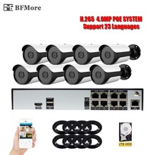 BFMore H.265 4.0MP POE 8CH NVR Kit UHD CCTV System IP Camera Outdoor Waterproof Video Security Surveillance Set P2P XMeye CMS
