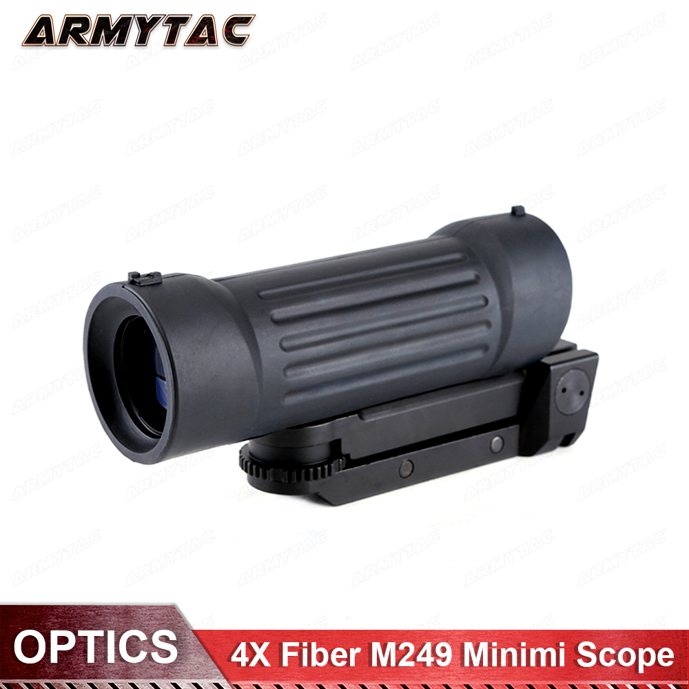 ArmyTac 4X Fibra di BD1410 M249 Minimi Scope Softair Softair OtticaArmyTac 4X Fibra di BD1410 M249 Minimi Scope Softair Softair Ottica