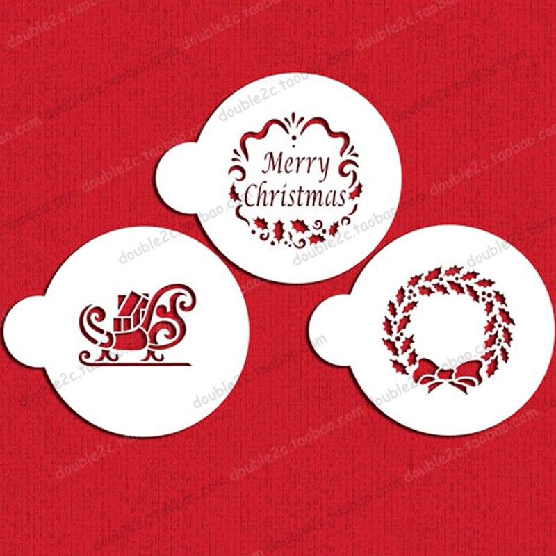 5f1cfb71e عيد الميلاد كوكي الإستنسل ، 3 (7.5 سنتيمتر) ، 3 قطعة/المجموعة ، كعكة  الإستنسل فندان خبز كعكة تزيين أدوات ، إمدادات الخبز