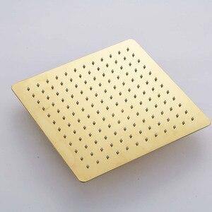 Image 3 - Kit de torneira para banheiro, kit de chuveiro dourado de 8/20/22 polegadas, chuveiro quadrado, torneira, montagem na parede, torneira do banheiro, oculto, misturador torneira banheira