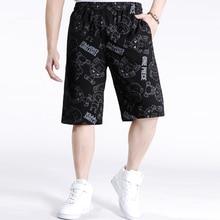 2017 Hip Hop männer männlich Marke Jogger Kleidung Übung Männer Shorts sommer Baggy Lose Knie Hosen Plus Größe XXXXL 5XL 6XL A06