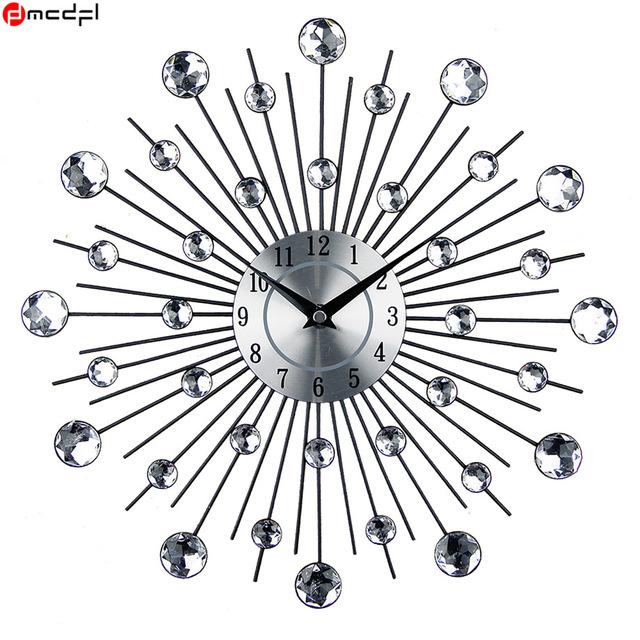 3D Crystal Rhinestone Reloj Mural Modern Horology Mural Decorative Wall Clock
